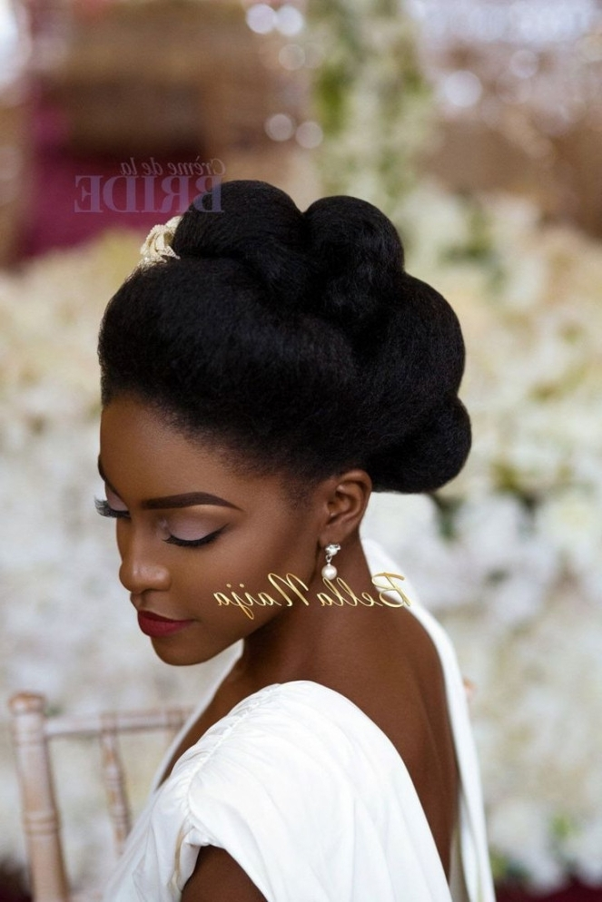 Lovely Natural Hair Updo Hairstyles For Weddings : Bravodotcom Intended For Most Current Natural Hair Wedding Updo Hairstyles (View 11 of 15)
