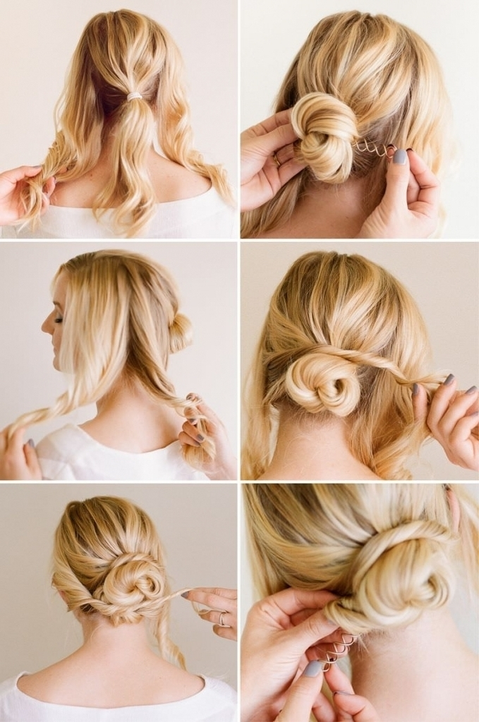 Low Bun For Long Hair 12 Trendy Low Bun Updo Hairstyles Tutorials Regarding Best And Newest Easy Low Bun Updo Hairstyles (View 12 of 15)