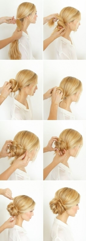 Low Bun For Long Hair 12 Trendy Low Bun Updo Hairstyles Tutorials Throughout Most Current Easy Low Bun Updo Hairstyles (View 13 of 15)