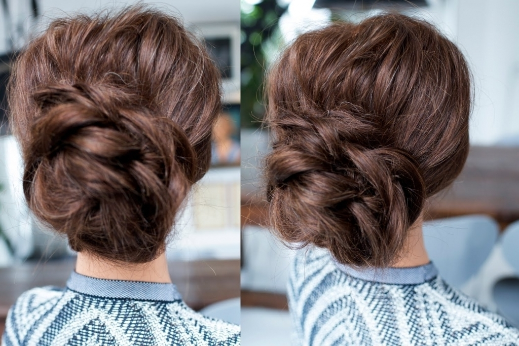 Low Bun For Long Hair – Popular Long Hairstyle Idea Within Most Current Easy Low Bun Updo Hairstyles (View 11 of 15)