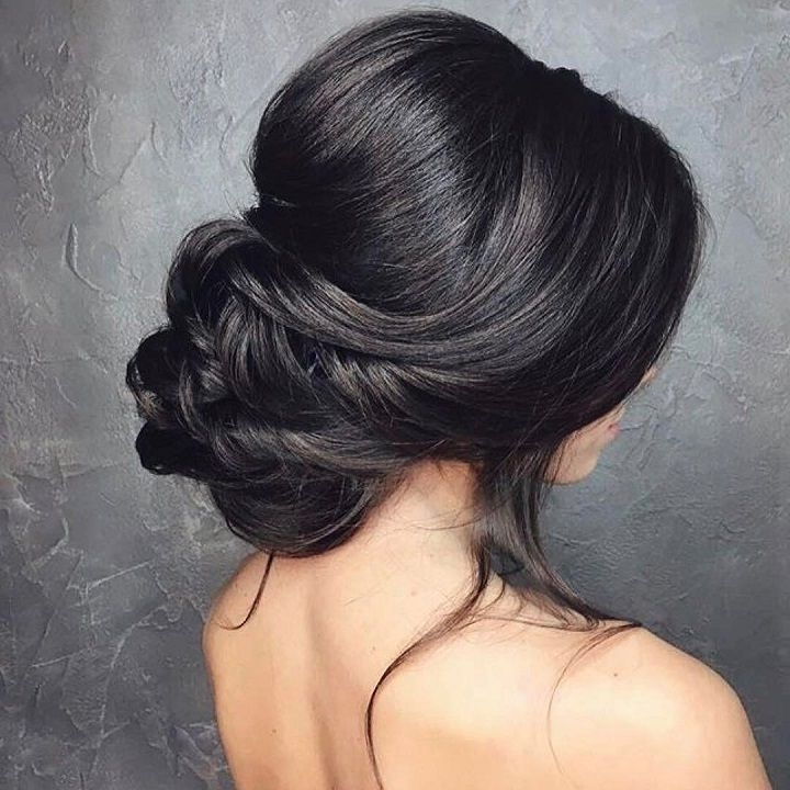 Low Bun Wedding Hair | Bridal Chignon, Low Updo And Chignons Within Latest Chignon Updo Hairstyles (View 10 of 15)