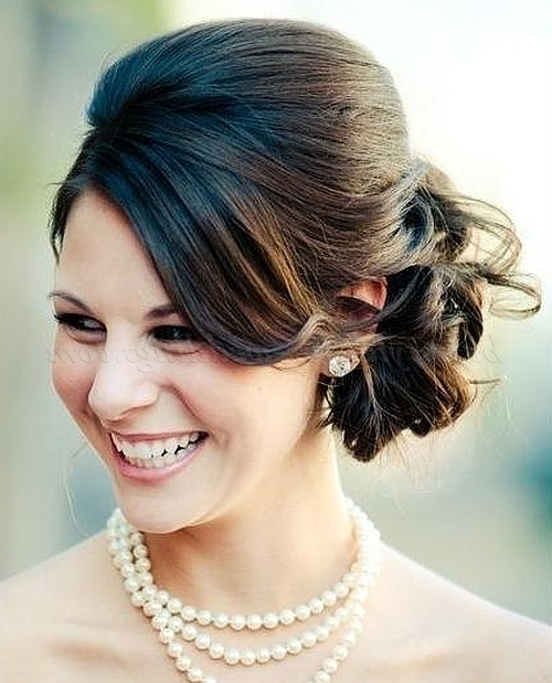 Low Bun Wedding Hairstyles – Chignon Wedding Updo | Hairstyles For Pertaining To Latest Wedding Bun Updo Hairstyles (View 6 of 15)