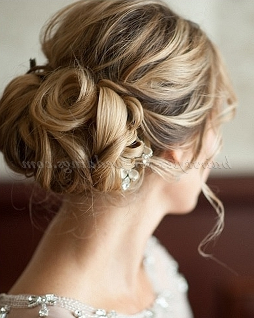 Low Bun Wedding Hairstyles – Low Bun Wedding Hairstyle   Hairstyles For Most Recent Updo Hairstyles For Weddings (View 12 of 15)