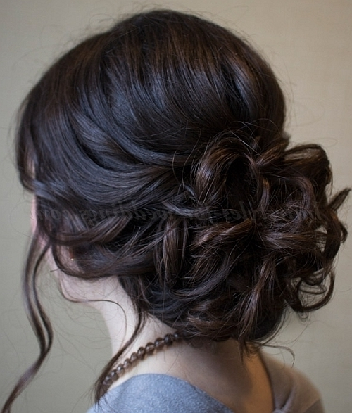 Low Bun Wedding Hairstyles – Wedding Updo | Hairstyles For Weddings Inside Recent Low Bun Updo Wedding Hairstyles (View 2 of 15)