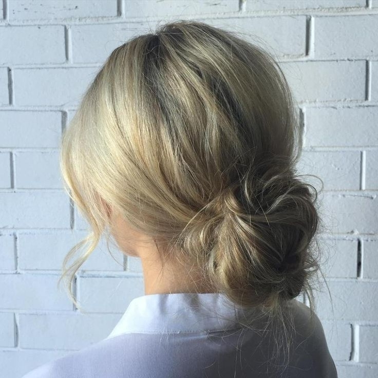 Low Messy Bun Updo | Hairstyle | Pinterest | Low Messy Buns, Bun For Latest Low Messy Updo Hairstyles (View 2 of 15)