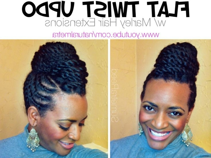 Marley Bun Up Dos On Pinterest | Marley Hair, Marley Twists And Updo Pertaining To Best And Newest Flat Twist Updo Hairstyles With Extensions (View 11 of 15)