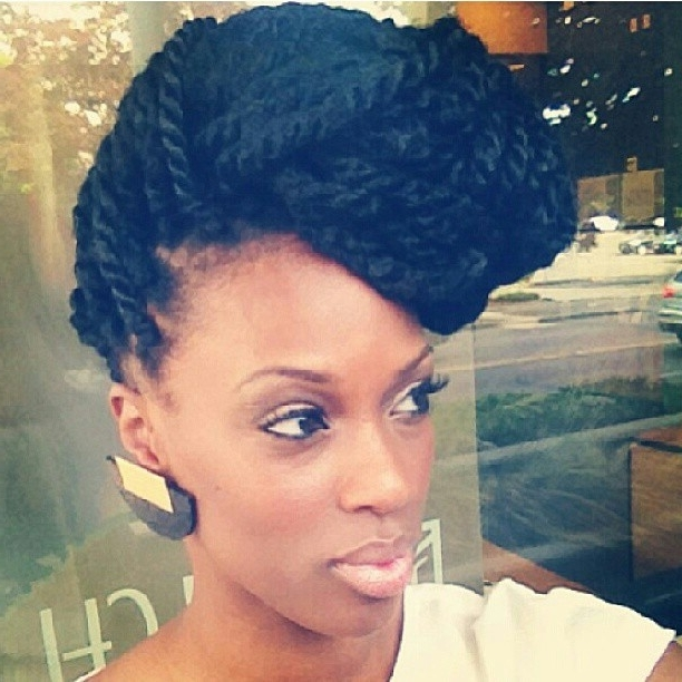 Marley Twist Updo … | Pinteres… Regarding Most Up To Date Marley Twist Updo Hairstyles (View 4 of 15)