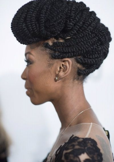 Marley Twists – Google Search | Hair | Pinterest | Marley Twists Inside Best And Newest Marley Twist Updo Hairstyles (View 8 of 15)