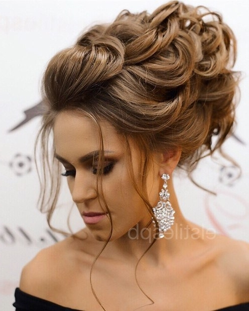 Medium And High Updo Intended For Best And Newest High Updo Hairstyles For Medium Hair (View 7 of 15)