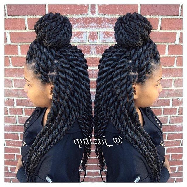 Medium Jumbo … | Hair | Pinterest | Hair Style, Cornrows And Pertaining To Latest Jumbo Twist Updo Hairstyles (View 7 of 15)