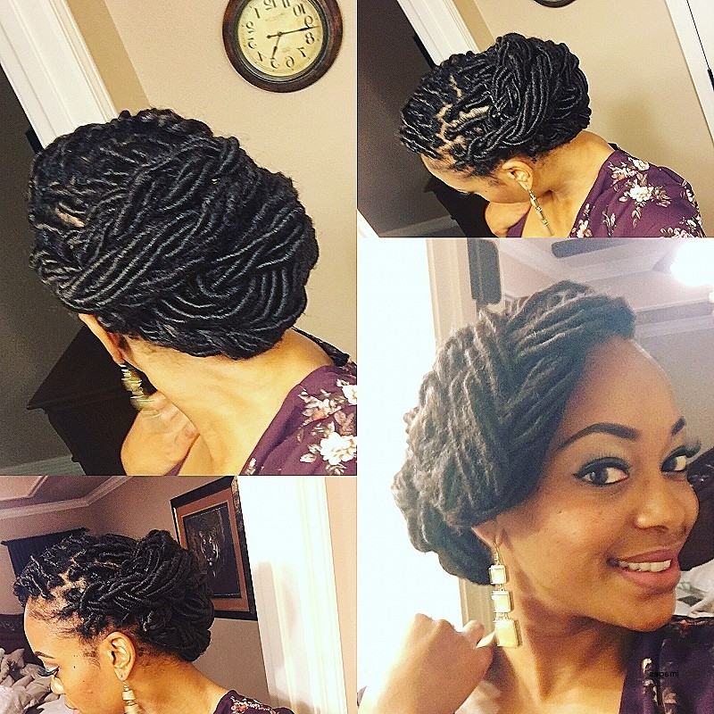 Medium Length Hair : Loc Hairstyles For Medium Locs Unique Beautiful Pertaining To Most Popular Updo Locs Hairstyles (View 10 of 15)