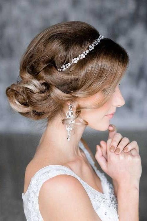 Messy Low Bun Updo Hairstyles For Wedding | Más Bellas | Pinterest Inside Newest Low Bun Updo Hairstyles For Wedding (View 13 of 15)
