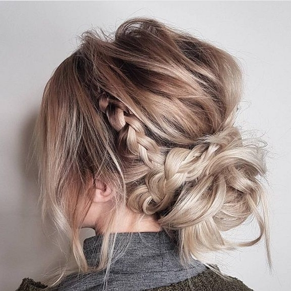 Messy Updo Hairstyles,crown Braid Hairstyle To Try ,boho Hairstyle For Most Up To Date Boho Updos For Long Hair (View 13 of 15)