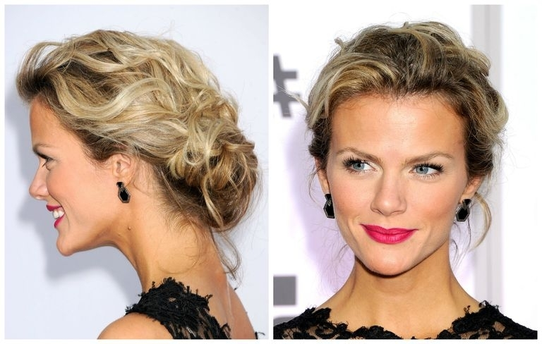 Messy Updos: The Top Casual Prom Hairstyles Throughout Best And Newest Messy Updo Hairstyles For