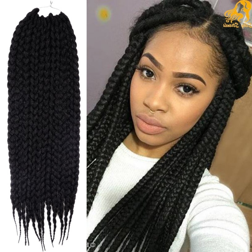 Min Hairstyles For Braid Extension Hairstyles Best Black Braided Inside Best And Newest Braided Updos With Extensions (View 8 of 15)