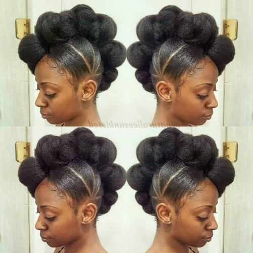 Min Hairstyles For Bun Hairstyles For Black Hair Updo Hairstyles For Within 2018 Black Hair Updo Hairstyles (View 15 of 15)