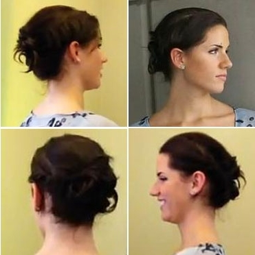 Mini Chignon – Easy Updo For Shorter Hair For Most Up To Date Easy Updos For Very Short Hair (View 11 of 15)