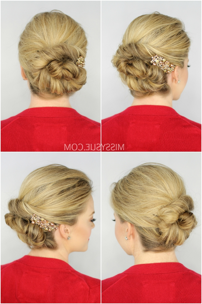 Missy Sue Twisted Bun Updo Intended For Newest Twisted Bun Updo Hairstyles (View 8 of 15)