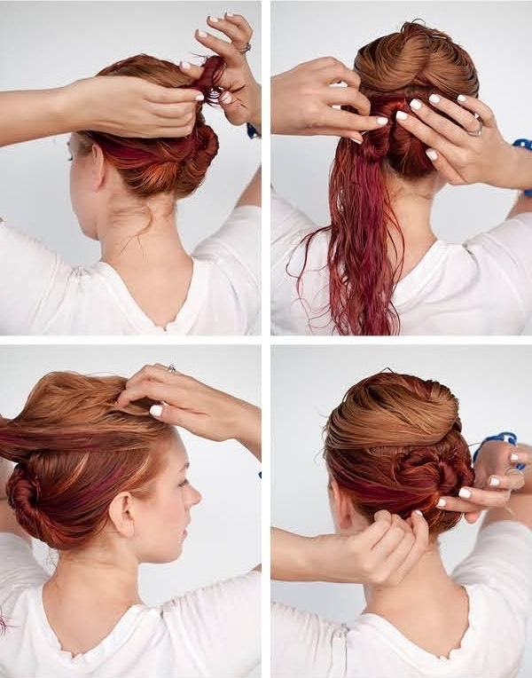 Model Hairstyles For Hairstyles With Wet Hair Quick Hairstyle For With Regard To Best And Newest Wet Hair Updo Hairstyles (View 4 of 15)