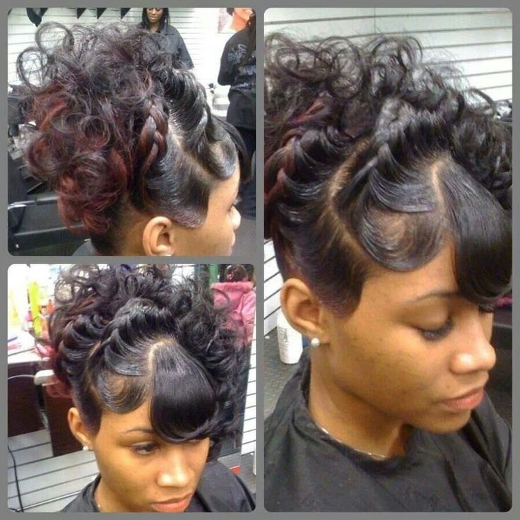 Model Hairstyles For Under Braid Hairstyles With Weave Best Images Within Current Quick Weave Updo Hairstyles (View 7 of 15)