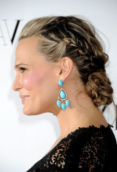 Molly Sims Braided Updo For Homecoming – Homecoming Hairstyles Throughout Recent Updo Hairstyles For Older Women (View 12 of 15)