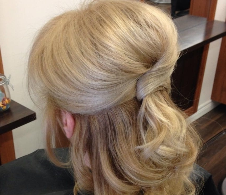 View Photos Of Mother Of The Bride Half Updo Hairstyles Showing 7