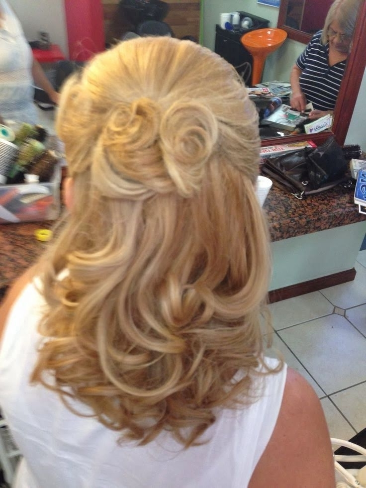 Mother Of The Groom Half Up Medium Hair   Mother Of The Bride Regarding Most Recent Half Updos For Mother Of The Bride (View 10 of 15)