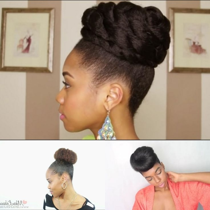 Natural Hair Bun Styles Best 25 Faux Bun Ideas On Pinterest Throughout Best And Newest Natural Hair Updo Hairstyles With Kanekalon Hair (View 11 of 15)