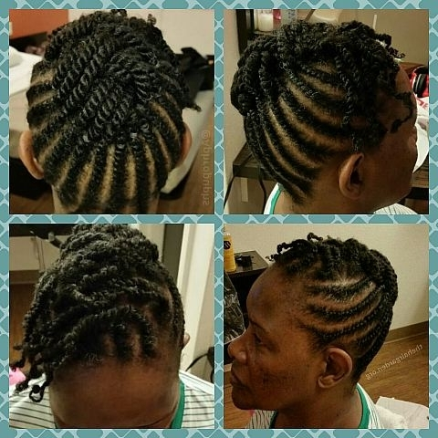 Natural Hair Flat Twist Hairstyles Updos Updo Above View Hairstyle in Most Popular Hair Twist Updo Hairstyles