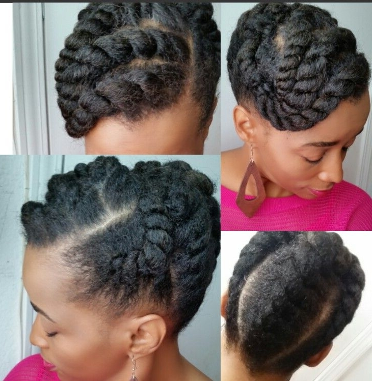Natural Hair | Flat Twist Updo, Flat Twist And Updo Pertaining To 2018 Natural Twist Updo Hairstyles (View 8 of 15)