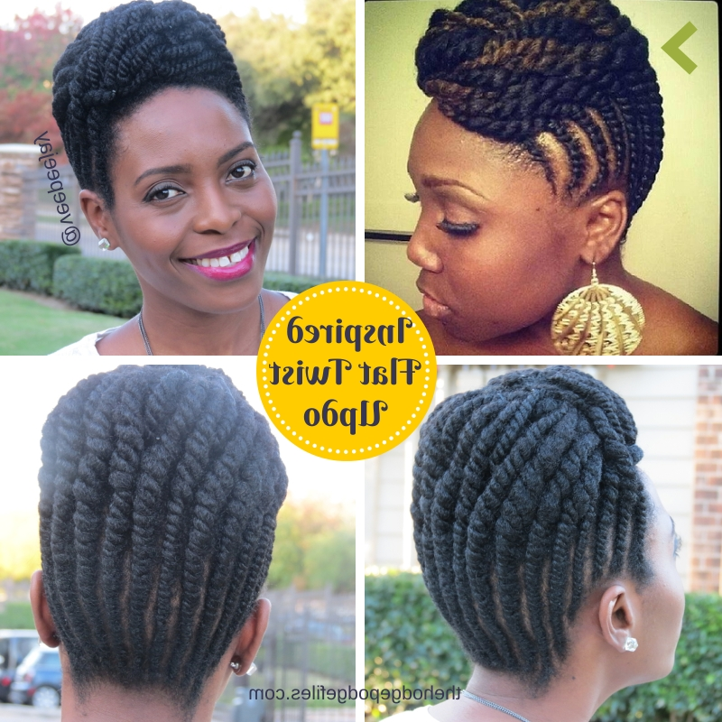 Natural Hair | Inspired Flat Twists Updo – Veepeejay In Best And Newest Twisted Updo Natural Hairstyles (View 7 of 15)