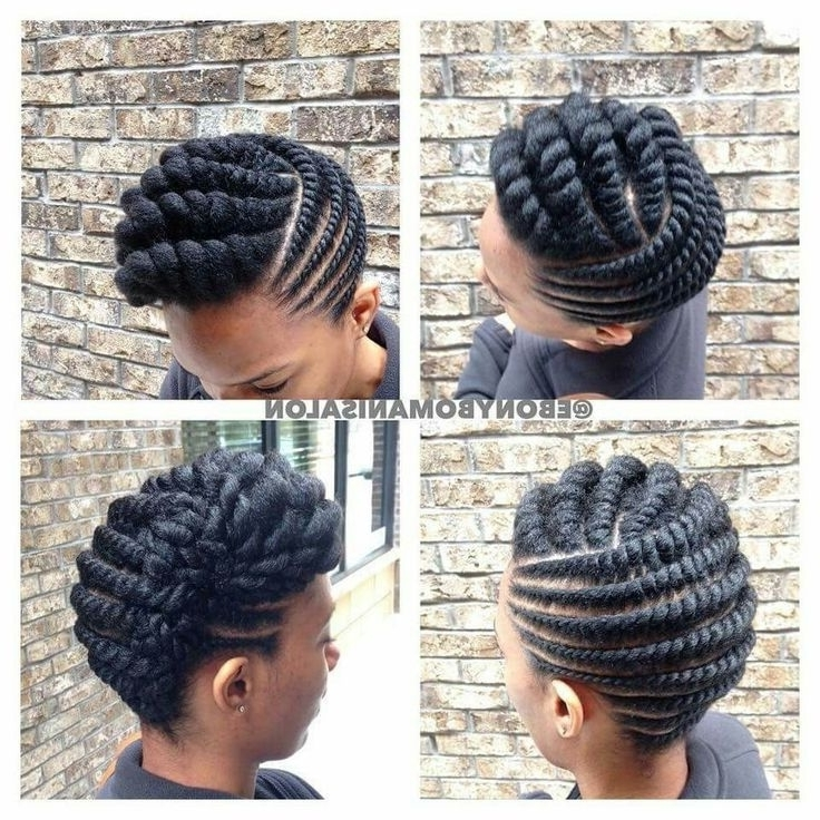 Natural Hair Twist Updo Styles Best 25 Flat Twist Updo Ideas On Regarding Most Current Flat Twist Updo Hairstyles (View 11 of 15)