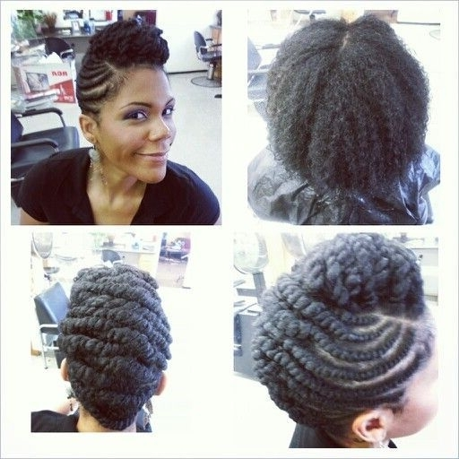 Natural Hair Twist Updos - Google Search | Hair | Pinterest with Current Natural Twist Updo Hairstyles