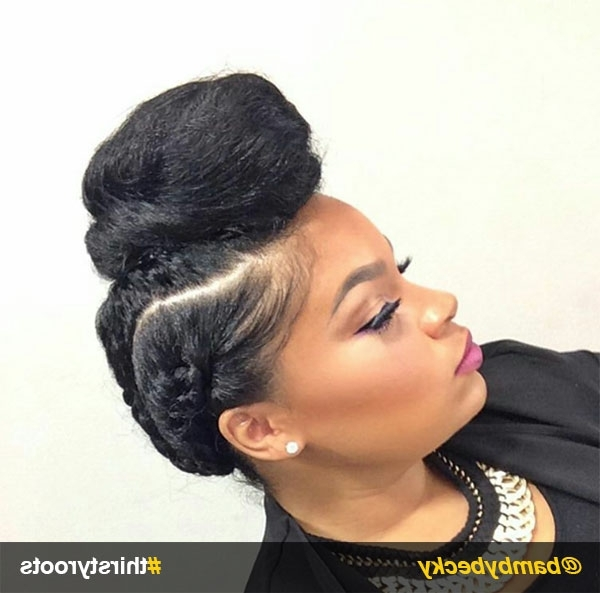 Natural Hair Updo Hairstyles You Can Create In Latest Twisted Bun Updo Hairstyles (View 11 of 15)