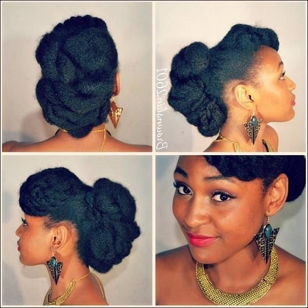Featured Photo of Natural Hair Wedding Updo Hairstyles