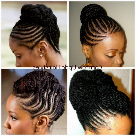Natural Updo Cornrows 2016 – Style Interest 2018 – Ehizoyafilms For 2018 Elegant Cornrow Updo Hairstyles (View 13 of 15)