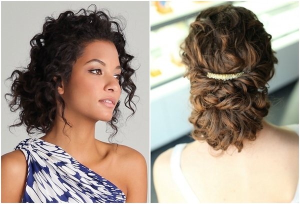 Naturally Curly Hair Updos Wedding | Medium Hair Styles Ideas - 46231 for Recent Natural Curly Hair Updos