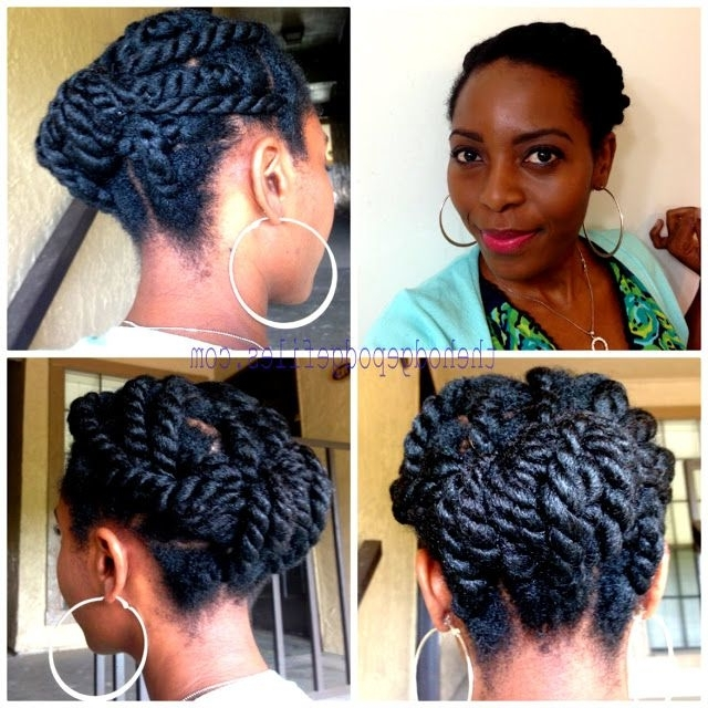 Naturally Melshary — Chunky Twist Style W/ Beija-Flor Naturals Creme pertaining to Most Up-to-Date Chunky Twist Updo Hairstyles