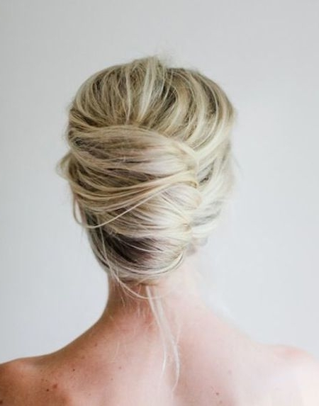 Need A New Look? Updo For Medium Hair - Go With The Soft Subtle with Most Up-to-Date French Twist Updo Hairstyles For Medium Hair
