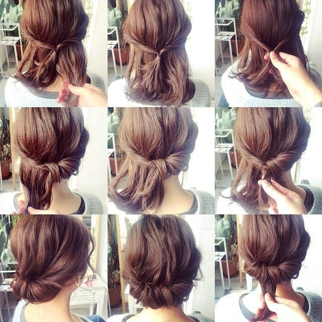 Never Thought Of This | Hair | Pinterest | Hair Style, Makeup And With Regard To Latest Easy Updos For Medium Thin Hair (View 13 of 15)