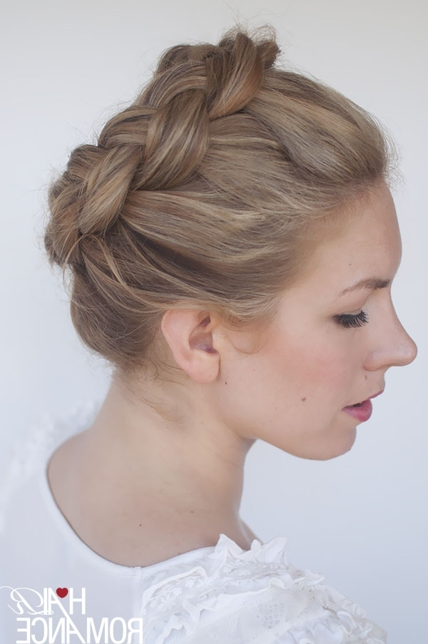 New Braid Tutorial – The High Braided Crown Hairstyle – Hair Romance Inside Recent Braided Crown Updo Hairstyles (View 11 of 15)
