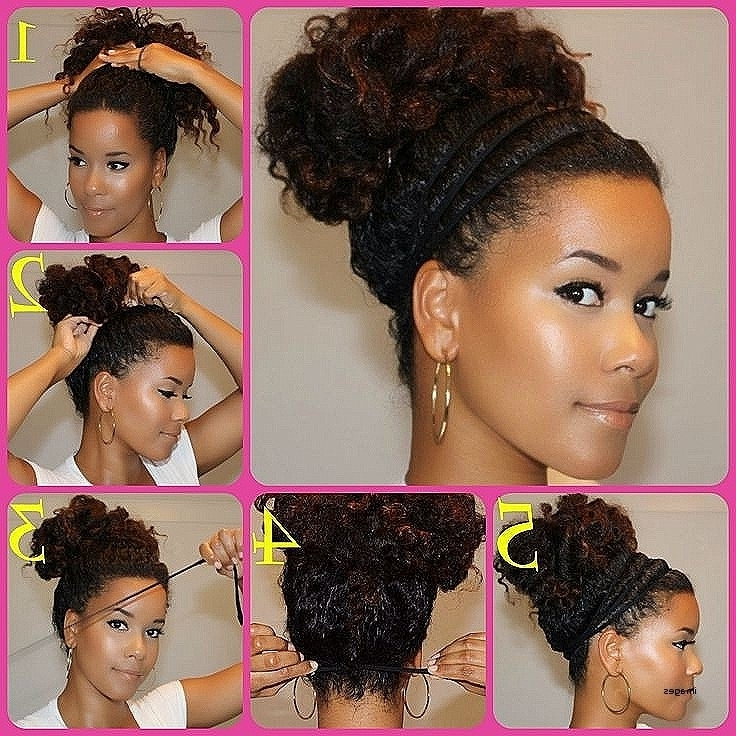 New Hairstyles For Naturally Curly Hair Fresh 10 Super Easy Updo With Regard To Most Recently Natural Curly Hair Updo Hairstyles (View 11 of 15)