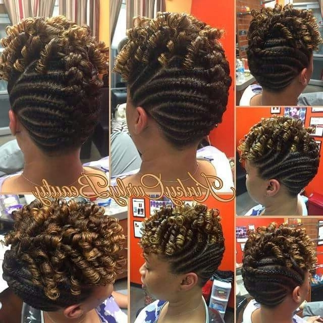 Gallery Of African American Flat Twist Updo Hairstyles View 6 Of 15