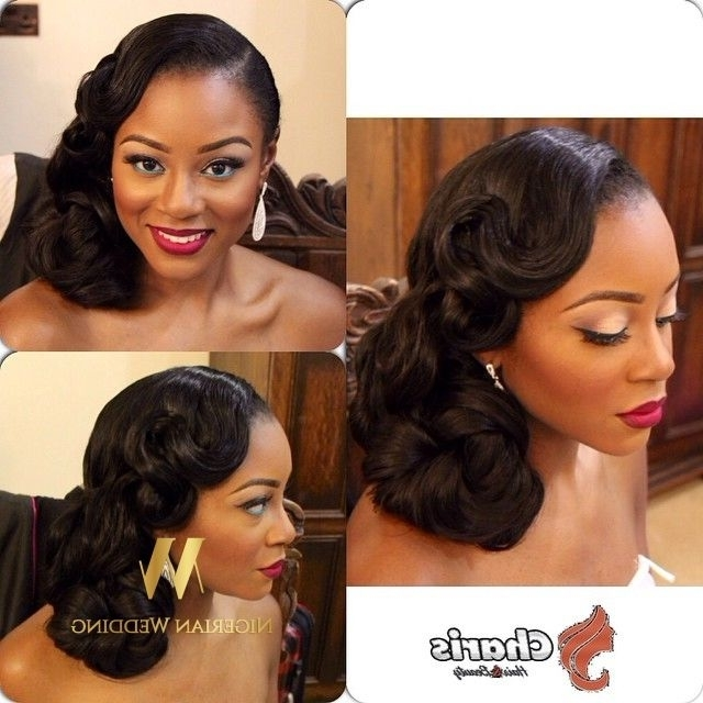 Nigerian Wedding Presents 30+ Gorgeous Bridal Hairstylescharis For Best And Newest Updo Hairstyles For Weddings Black Hair (View 10 of 15)