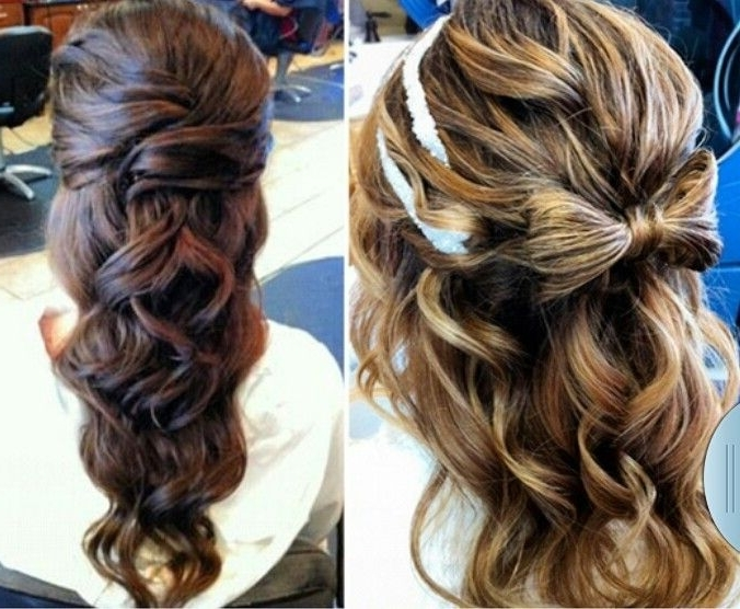 Partial Updo | Hairstyles/color And Cut | Pinterest | Partial Updo Regarding Latest Partial Updo Hairstyles For Long Hair (View 14 of 15)