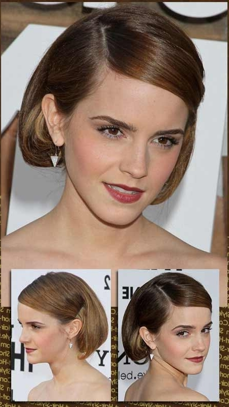 Party Hair Style With Faux Bob Updo Intended For Most Up To Date Updo Hairstyles For Bob Hairstyles (View 12 of 15)