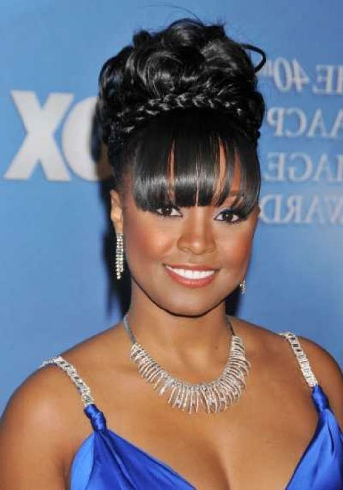 Pictures Of Updo Hairstyles Black Girls With Most Popular Black Girl Updo Hairstyles (View 13 of 15)