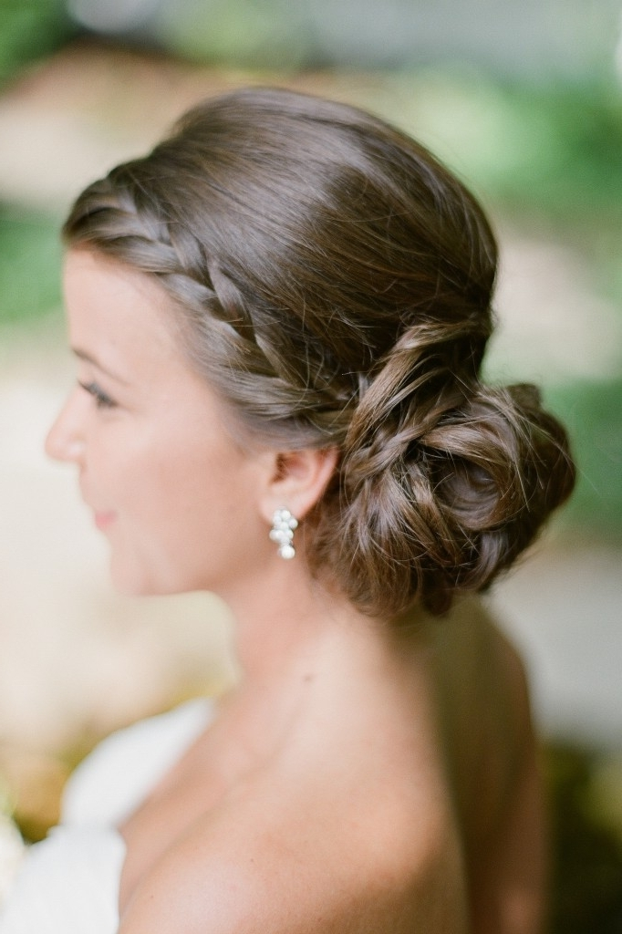 Pictures Of Updo Hairstyles The Knot With Regard To Current Wedding Bun Updo Hairstyles (View 13 of 15)