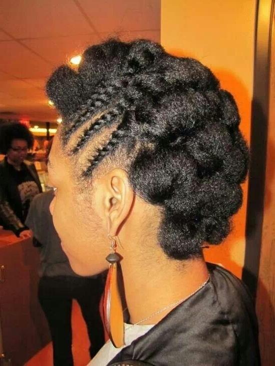 Pin Tucks & Sideflat Twist Do For Short & Medium Length Natural Hair Pertaining To Most Popular Natural Hair Updos For Medium Hair (View 3 of 15)