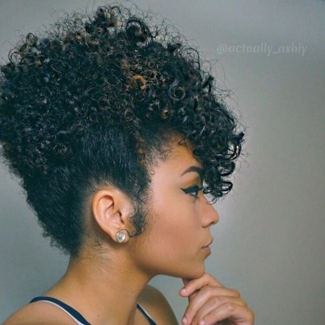 Pineapple #updo | Naturally Curly Updos | Pinterest | More Updo With Regarding 2018 Natural Curly Updo Hairstyles (View 8 of 15)